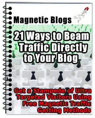 Product picture Magnetic Blogs - 21 Ways to Beam Traffic Directly to Blog